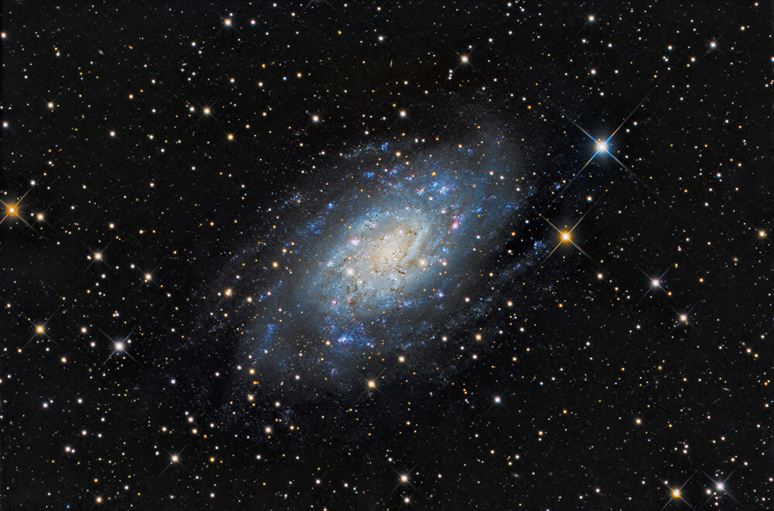 NGC 2403 in Camelopardalis is an Sc-type spiral galaxy in a constellation  named for a Giraffe! Discovered by William Herschel in 1788, it is an  outlying ...